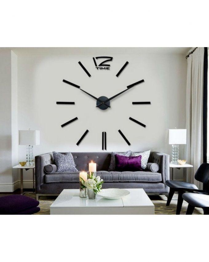 DIY-Analog-Wall-Clock-Line-Black