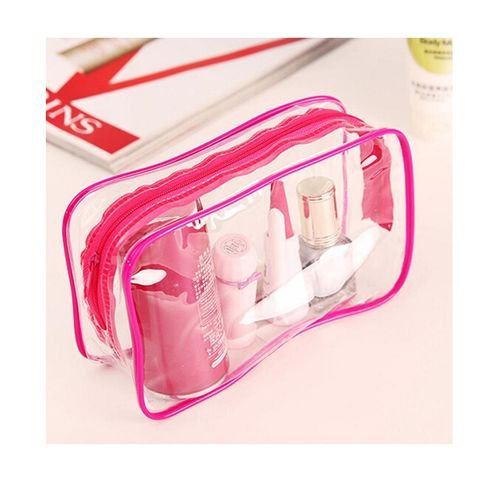 Travel-Makeup-Cosmetic-Bag-Toiletry-Zip-Pouch-Pink