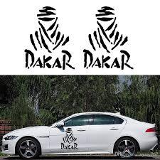 Car-Styling-Classic-Personality-Dakar-Stickers-Black