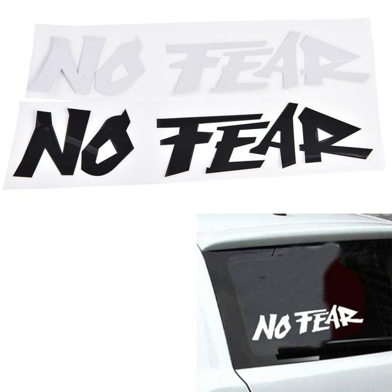 Cool-Slogan-NO-FEAR-Car-Sticker
