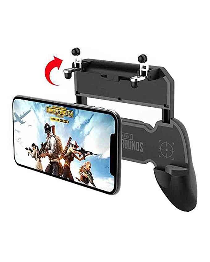 PUBG-W11Plus-Mobile-Game-Pad-L1R1-With-Joystick-Button-Black