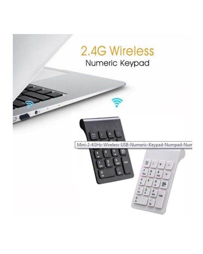 Mini-Numeric-Wireless-Keypad-2.4-GHz-18-keys-Pad-Black