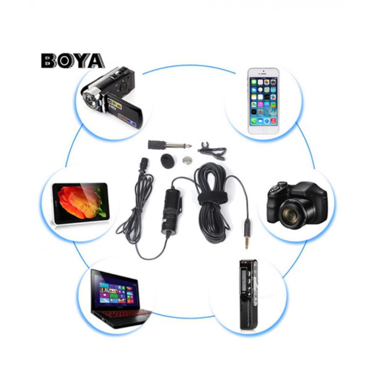 BOYA-MIC-M1-LAVALIER-COLLAR-MICROPHONE