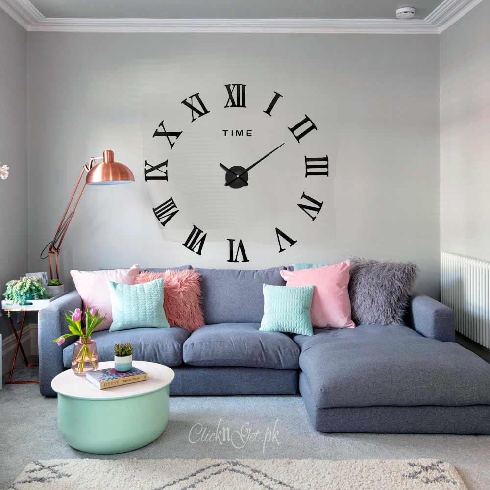 Acrylic-Wall-Clock-3D-Multi
