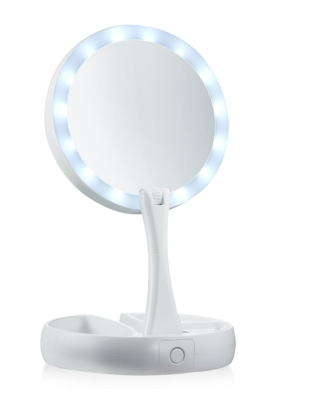 Foldable-Led-Lights-Makeup-Mirror