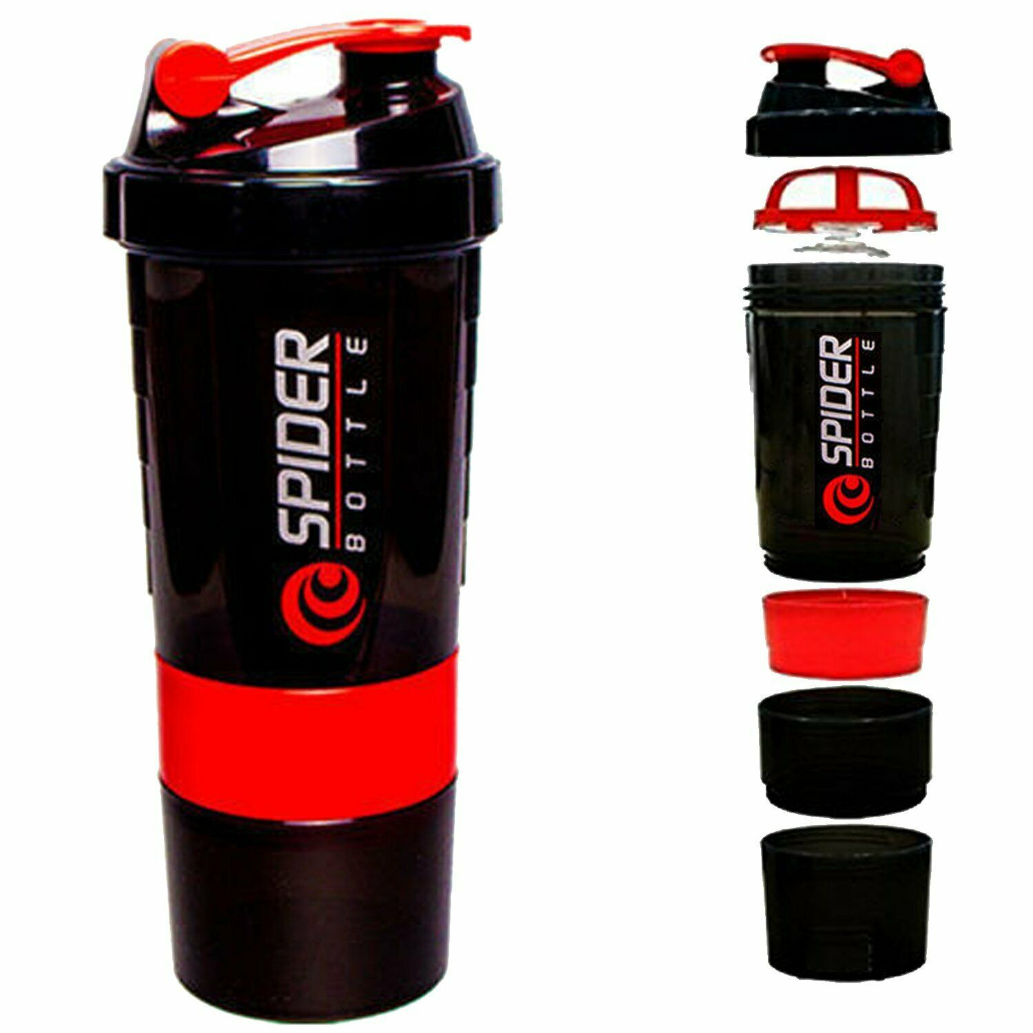 Spider-Smart-Protein-Shaker-Bottle