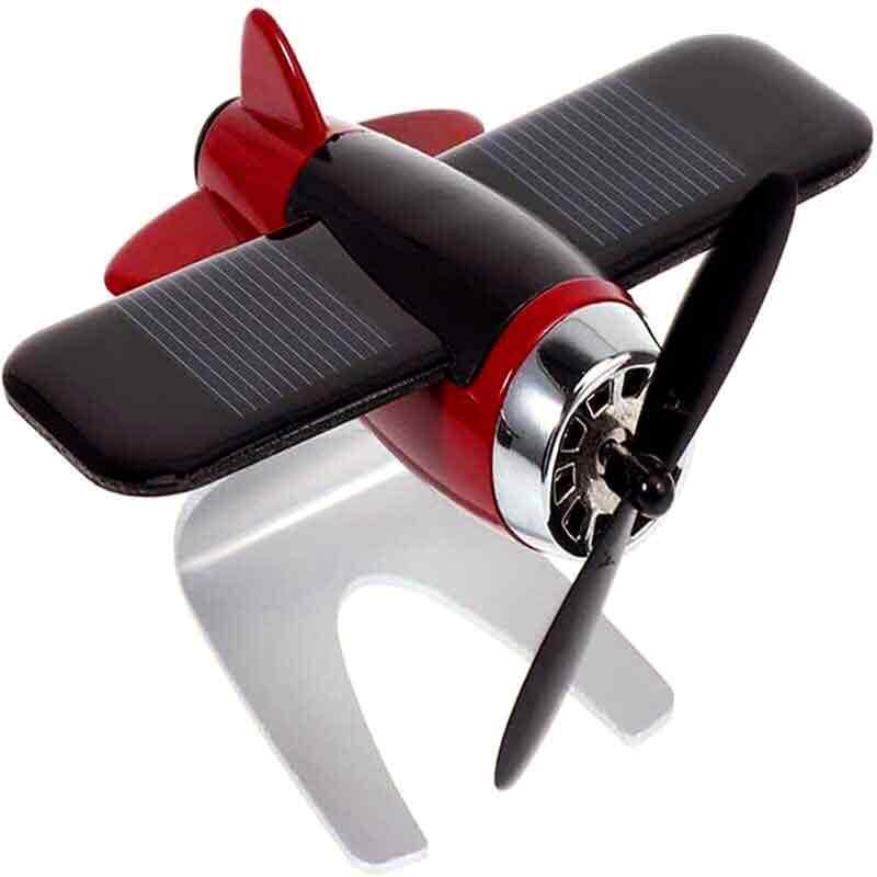 Solar-Airplane-Car-Perfume-Decor-Airplane-Model