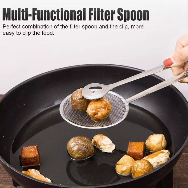 Stainless-Steel-Kitchen-Serving-Tongs-Frying-Filter-Spoon
