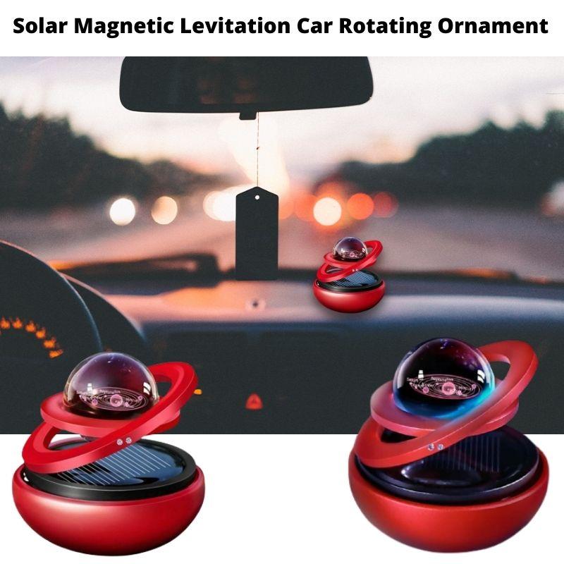 Solar-Magnetic-Levitation-Car-Rotating-Ornament